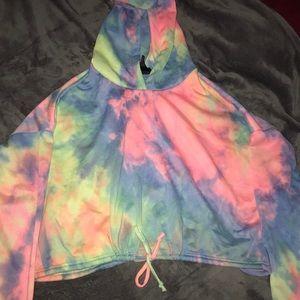 NWOT cropped hoodie